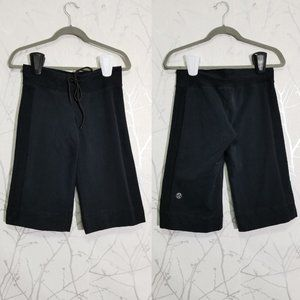 Lululemon Black French Terry Mid Rise Crop